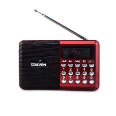 Máy nghe nhạc kiêm đài FM Craven CR-26 (Đỏ đen)