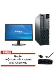 Máy tính để bàn Lenovo ThinkCentre M71E SFF Core I3 2100 RAM 4GB HDD 250GB màn hình 20inch (Đen) hàng nhập khẩu + Tặng bộ bàn phím chuột usb wifi.