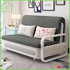 Sofa giường gấp gọn 1m5 * 1m93 hợp kim sắt cao cấp,có ngăn chứa đồ, tặng kèm 2 gối (M002-5)