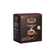 Cà Phê Đen Hòa Tan Espresso KING COFFEE – Hộp 100 gói x 2.5g – Arabica café hòa tan đậm hương vị cà phê Ý
