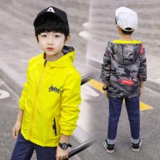 Áo khoác bé trai TrueKids, áo khoác bé trai hai mặt chất kaki dù