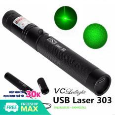 Bút laser 303 chân sạc usb cao cấp