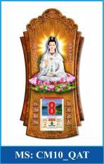 Lịch Gỗ Treo Tường Phật Giáo Quan Âm Trắng – TẶNG BLOC ĐẠI 2020