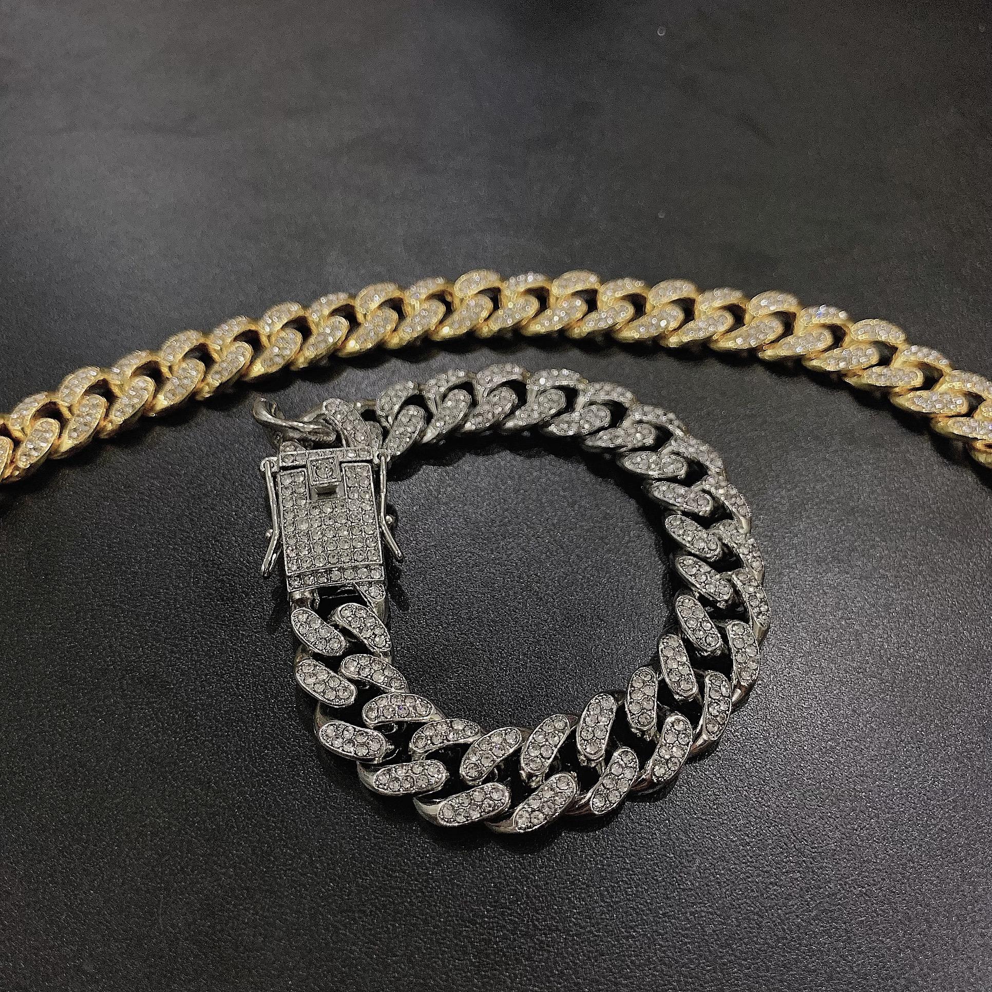 Vòng Tay Cuban Unisex Diamond - Hàng Siêu Cấp