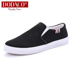 Giày mọi nam đế bằng DODACO LVS0007 Giày lười đẹp giá rẻ mẫu mới hot trends 2019 màu đen xám đỏ vàng giầy giay moi de bang giay luoi dep gia re mau moi mau den xam do vang