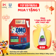 Túi Nước giặt OMO Matic Cửa Trên 3.1KG