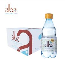 Thùng 24 chai nước khoáng thiên niên có ga alba 350ml