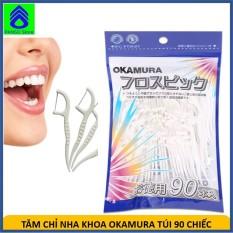 Tăm chỉ nha khoa cao cấp Okamura Nhật bản gói 90 chiếc – Tăm chỉ kẽ răng nhựa hai đầu tiện dụng xuất Nhật [PANSO Store]