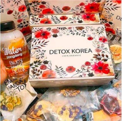 [Có clip] [VIP] Bộ Set Detox Hàn Quốc cao cấp 30 gói – Tặng 1 bình 1000ml nhựa chịu nhiệt cao cấp kèm túi vải, hộp, gói đường ăn kiêng