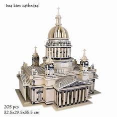 Mô hình lắp ráp 3D gỗ nhà thờ Issa Kiev- 32.5×29.5×35.5cm