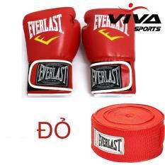 Bộ Sản Phẩm Găng Tay Boxing 14Oz + Băng Quấn Tay 5M