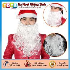 Đồ chơi hóa trang noel, Bộ râu ông già noel, chất liệu sợi vải mềm mượt không rối,không bám bụi.