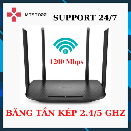 Bộ phát wifi TPLink 4 râu 6300/5620 Sóng Xuyên Tường – Modem Wifi băng tần kép chuẩn AC 1200 Mbps  