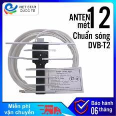 Anten Dvb t2 – có dây dài 12 mét, có sẵn giắc kết nối, mua về chỉ việc treo lên và dùng!