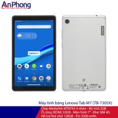 """Máy tính bảng Lenovo Tab M7, Chíp MediaTek MT8765 4 nhân, Bộ nhớ 2G, Ổ cứng 32GB, Màn hình 7"""", Khe SIM 4G"""