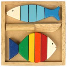 Đồ chơi gỗ Winwintoys – Bộ cắt 2 cá