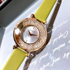 Đồng hồ nữ Julius JA-1203 dây da mặt đá xoay tuyệt đẹp