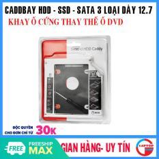 Caddy Bay Hdd Ssd Sata 3 12.7Mm – Khay Ổ Cứng Thay Thế Ổ Dvd – New Dễ Dàng Lắp Đặt Và Thay Thế