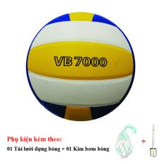 Bóng Chuyền Thăng Long VB7000 + Túi Lưới Đựng Bóng + Kim Bơm Bóng