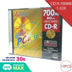 Đĩa trắng CD-R 700Mbps/ghi 80Min/52X Mitsubishi Model number-GD80SS1P (10chiếc)