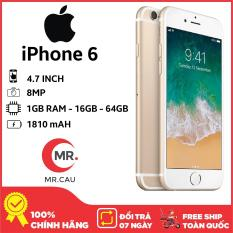 Điện thoại Apple iPhone 6 – 16GB 64GB Bản quốc tế Full box Full phụ kiện – Bảo hành 6 tháng – Đổi trả miễn phí – Yên tâm mua sắm với Mr Cầu ( Điện thoại giá rẻ, điện thoại smartphone, Điện thoại thông minh)