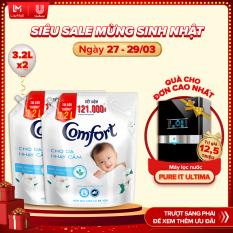 Combo 2 Nước xả vải Comfort Cho Da Nhạy Cảm Túi 3.2L – Phù hợp với cả em bé