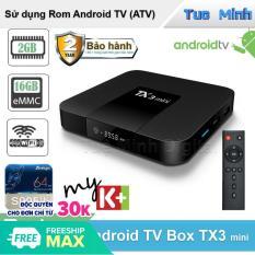 Android Tivi Box TX3 Mini 2021 RAM 2GB, bộ nhớ trong 16GB, Bluetooth, Android 9 – Bảo hành 2 năm