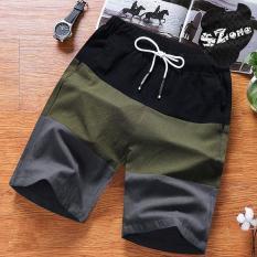 Quần đũi nam phối 3 màu, quần đũi nam hè 2020, quần shorts đũi đổi màu