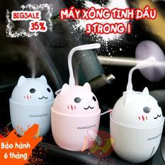 Máy phun sương tạo ẩm Humidifier 3 trong 1 – máy phun sương, máy phun sương tạo độ ẩm, máy phun sương mini, máy xông tinh dầu + Tặng 1 lọ tinh dầu – HAKOCHI