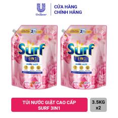 [1.3 – 8.3 MUA 1 TẶNG 2 TÚI NƯỚC GIẶT SURF 150G] – Combo 2 Túi Nước Giặt Cao Cấp Surf 3in1 (3.5kg)