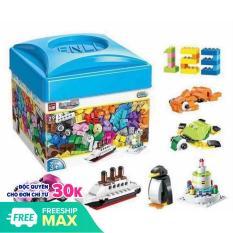 Bộ Lego hộp vuông 460 chi tiết sáng tạo cho bé yêu