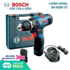 Máy khoan bắt vít Máy khoan tường dùng Pin Bosch GSB 120-Li New 2019 Pin 12V-2.0Ah Xuất xứ Malaysia Bảo hành điện tử 6 tháng