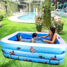 [TẶNG KÈM BƠM CHÂN] Bể Bơi bơm hơi TPHCM, Bể Phao Bơm Hơi Cỡ Lớn, Phao Bơi Trong Nhà 150X100X65 Cm (3 Tầng) Loại Dày – Thiết Kế 3 Van Xả Khí Riêng Biệt. Nhập Khảu và Phân Phối Toàn Quốc