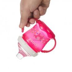 Bình tập uống cho bé UPASS 180ml có 2 tay cầm với núm hút mềm UP0180X
