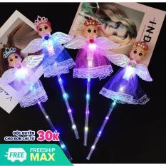 [HCM][Kèm Pin] Gậy phát sáng Thiên thần có cánh gậy công chúa đèn trung thu búp bê chibi – Đồ chơi trung thu cho bé trai bé gái – Smart Baby