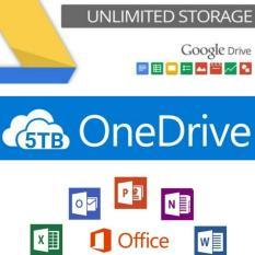 Combo phần mềm 0ffice 365 trọn đời bản quyền + gói dung lượng 5TB + Gói dung lượng không giới hạn GG drive