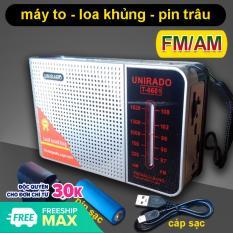 Máy nghe đài AM / FM Loa to pin sạc T-6601