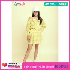 Chân Váy Kẻ Dáng Xòe Phổi Kẻ Sườn Dành Cho Bé Gái 2-15 Tuổi, Chất Liệu Vải Mềm, Thoáng Mát – Jookyli