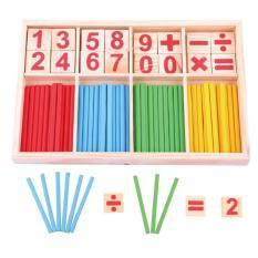 Bộ que tính học toán kèm thẻ số bằng gỗ – Đồ chơi gỗ Smart Baby 024- dochoigo024