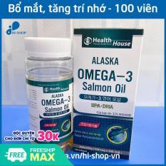 Viên dầu cá Alaska Omega 3 1000mg, EPA 180nmg, DHA 120mg – Hộp 100 viên bổ não, sáng mắt, khỏe mạnh tim mạch, tăng cường trí nhớ