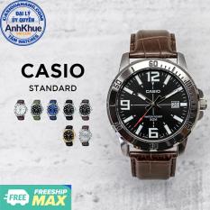 Đồng hồ nam dây da Casio Standard chính hãng Anh Khuê MTP-VD01 Series