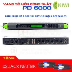 Vang số liền công suất Kiwi PD 6000 tặng 02 jack neutrik