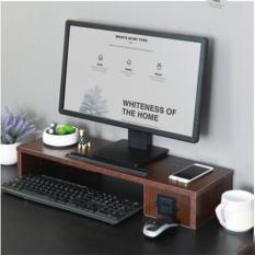}Kệ để màn hình máy tính có ổ cắm điện