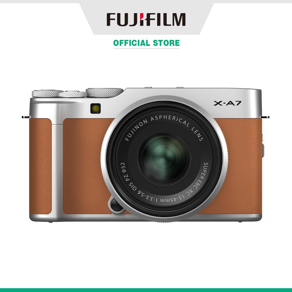 Máy ảnh kỹ thuật số Fujifilm X-A7/XC15-45 (Nâu camel/Xanh bạc hà/Bạc/Bạc đậm/Xanh biển)