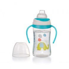 Bình uống nước cho bé UPASS 250ml có 2 tay cầm với núm hút mềm UP0154N