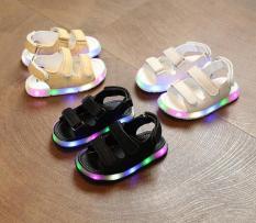 Sandal Trẻ Em Quai Ngang Có Đèn Nháy ( Vàng, Trắng, Đen)