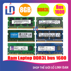 Ram laptop 8GB DDR3L bus 1600 PC3L 12800S (nhiều hãng)samsung hynix kingston – LTR3 8GB