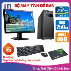 Bộ case máy tính CPU Pentium G2010 / Core i3-3220 / Ram 4GB / HDD 250GB-500GB / SSD 120GB-240GB + Màn hình + [QUÀ TẶNG: Bộ phím chuột không dây + bàn di chuột] – LLD