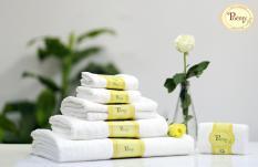 Lốc 5 khăn mặt chữ nhật sọc gân Poemy – Khăn mặt chữ nhật microfiber – mix màu ngầu nhiên – 29x45cm