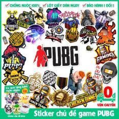 120 mẫu sticker hình dán chủ đề game PUBG chất liệu decal dán điện thoại. laptop, xe đạp, nón bảo hiểm, vali, tủ lạnh,..